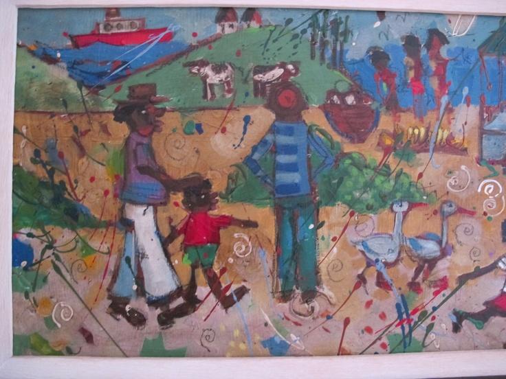 part of a long painting..Makaranga Lodge (Mens Loo) :)