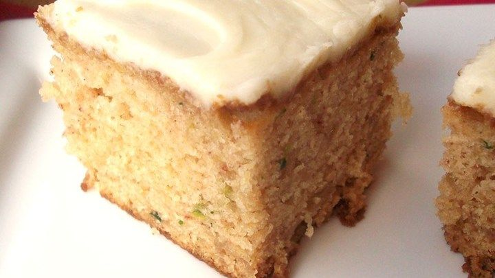 Zucchini bars. These are perfect. Added 2 t. cinnamon and 1 t. ginger. ALSO decreased sugar by 1/2 cup