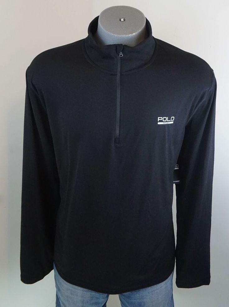 New $79.50 Polo Sport Ralph Lauren Performance 1/2 Zip Pullover Shirt Black 2XL #PoloSport #ShirtsTops