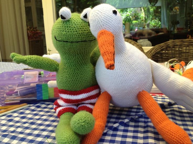 Kikker en eend! #haken #Minousche