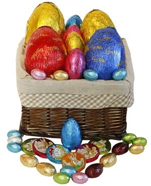 The 84 best easter gift ideas images on pinterest easter gift easter egg chocolates hamper negle Images