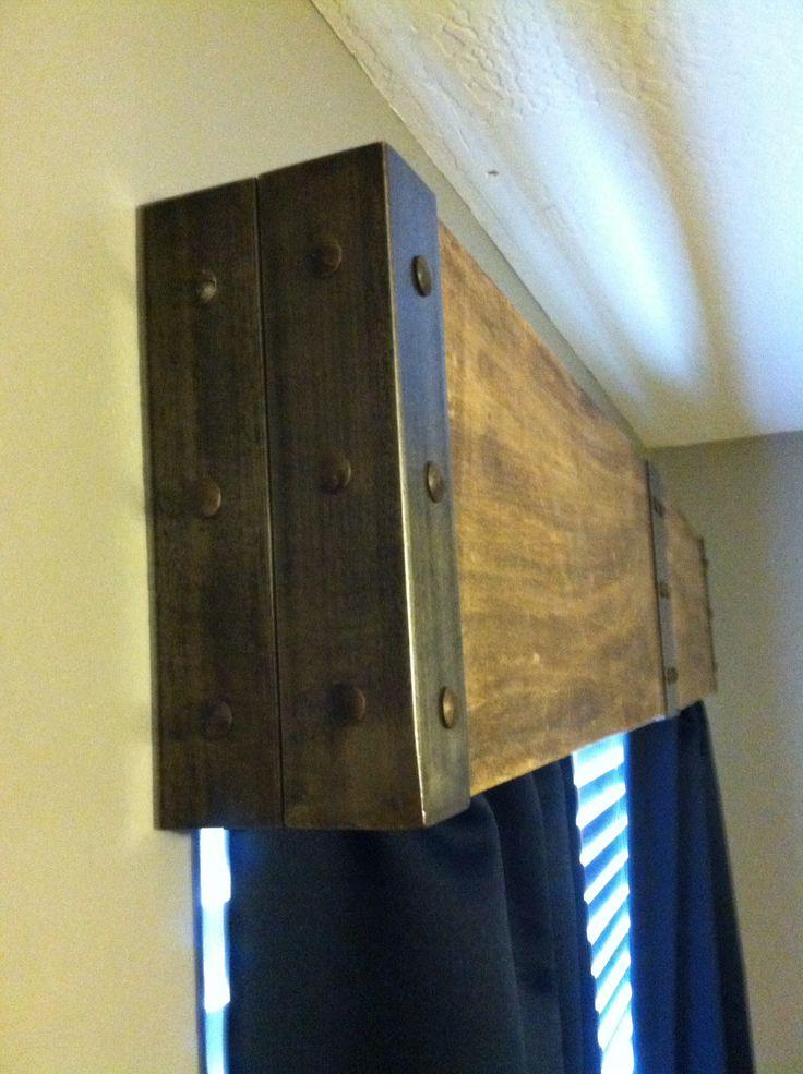Custom metal and wood valance