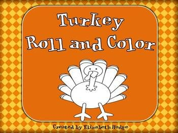 Turkey Roll and Color number words, color words, and sight words