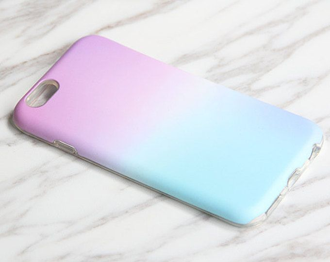 Gradient Pastel Pink Blue iPhone 7|6s Plus|SE|5 & Samsung Galaxy S8+|S7|S6 protective tough snap cases KB931