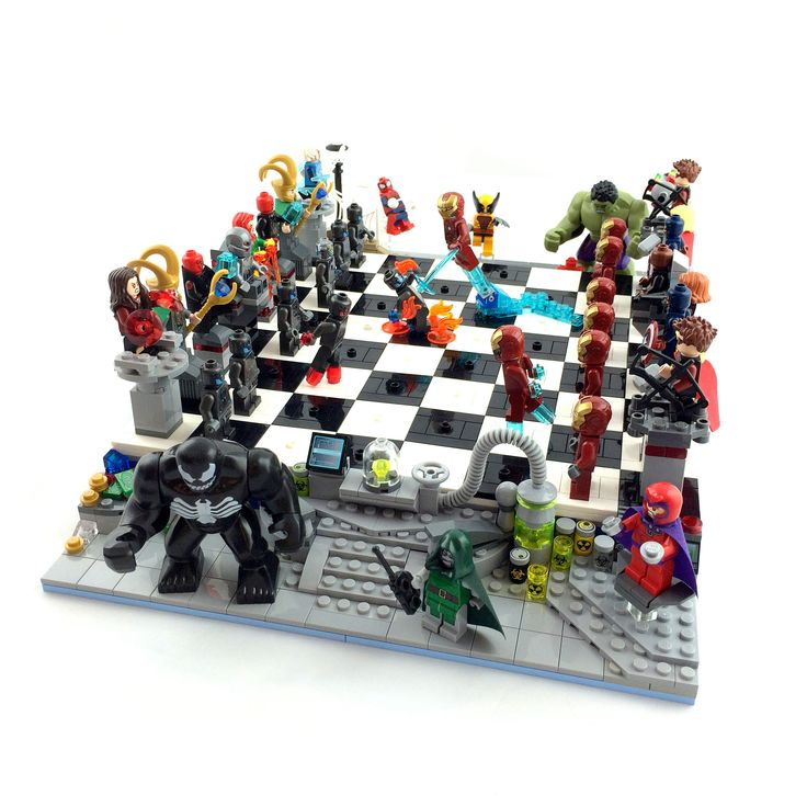 https://flic.kr/p/rbyWXS | LEGO Marvel Superheroes Chess | Avengers vs. Ultron  Marvel Superheroes Chess: Choose your alliance, designate your soldiers, then onward towards victory!