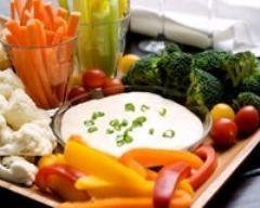 Dips de légumes frais Ingrédients