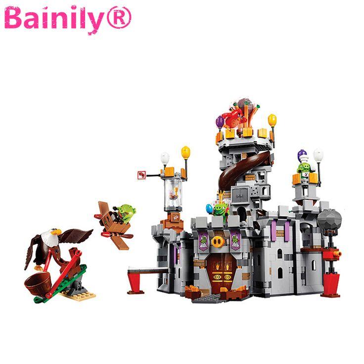 [Bainily]879pcs Birds King Pigs Game Castle Building Blocks Bricks Sets Education Toys for Children  #Affiliate