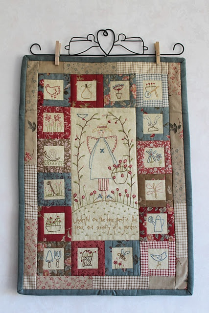 wall hanging stitcheries farmgirlstitching  Great layout