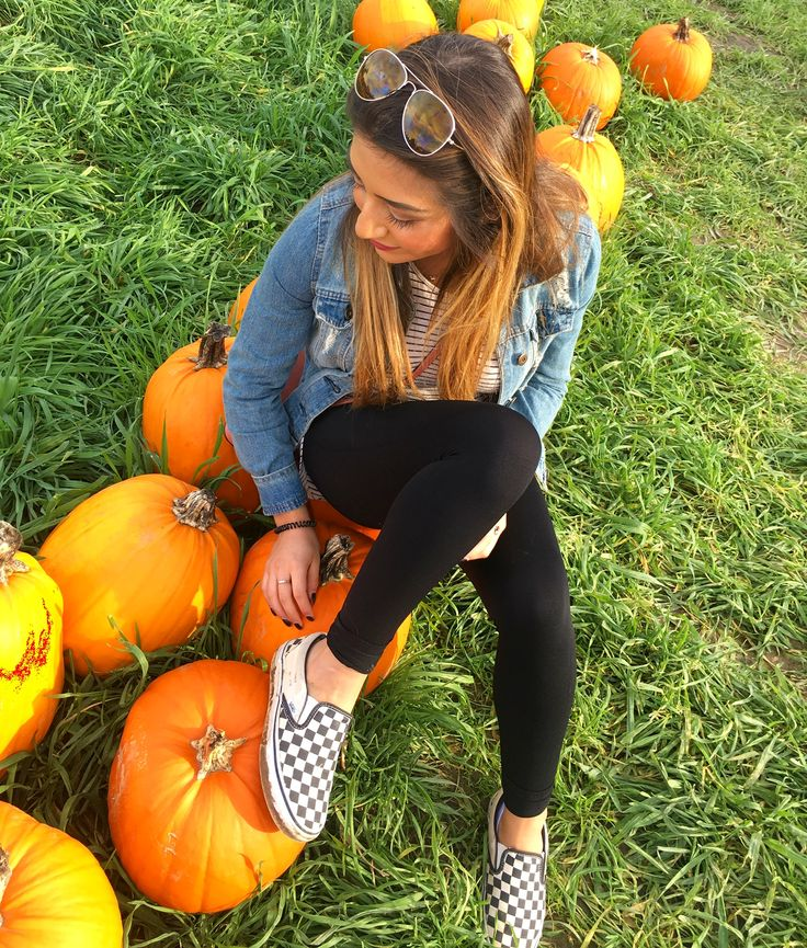 Pumpkin patch #checkered #vans #outfit