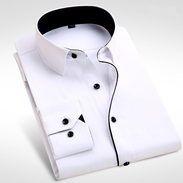 New Men Shirt Male Dress Shirts Men's Fashion Casual Long Sleeve Business Formal Shirt camisa social masculina