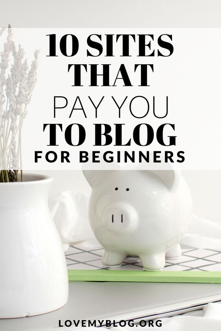 Awesome online business ideas for entrepreneurs who work from home. 10 sites that pay you to blog #startup #onlinebusiness #entrepreneur