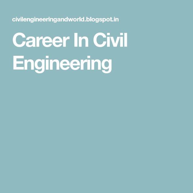 Career In Civil Engineering