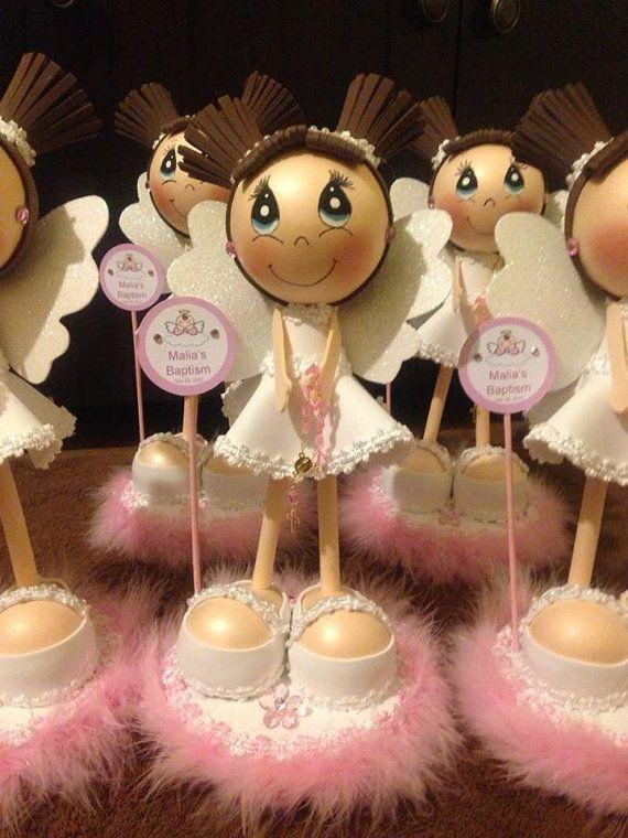 Centro de mesa con fofucha angelito imagui