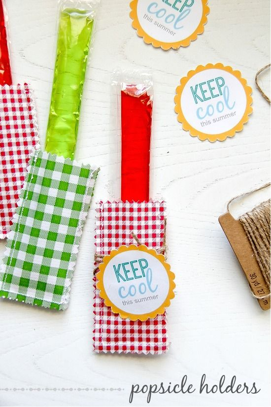 Summer Craft: Oilcloth Popsicle Holder with a printable gift tag