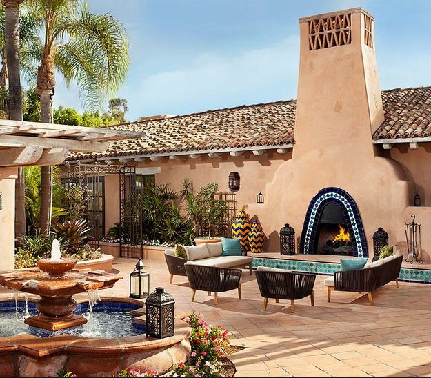 Spanish Revival outdoor ranch patio living - the best!   spanish revival patios