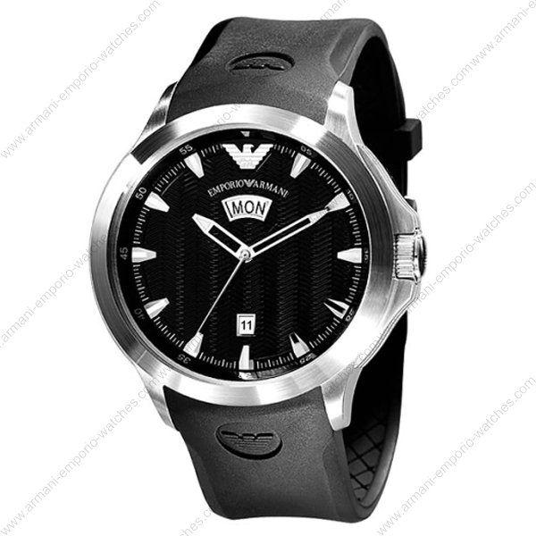 Emporio Armani Black Rubber Strap Men's Watch AR0631