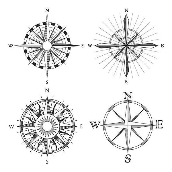 Compass Tattoo Meaning and Design Ideas ❤ liked on Polyvore featuring accessories and body art