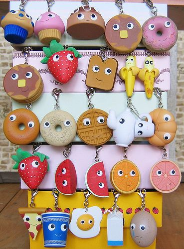 Yummy Breakfast Keychains- not just for kids! Available at W HOTELS THE STORE MIDTOWN.