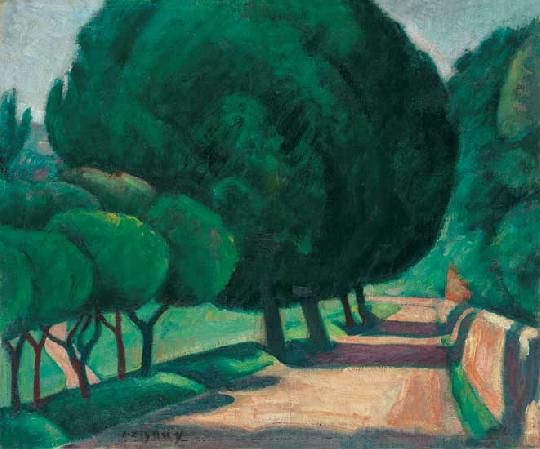Czigány Dezső (1883-1938)  Provance  Olaj, vászon, 55x65 cm