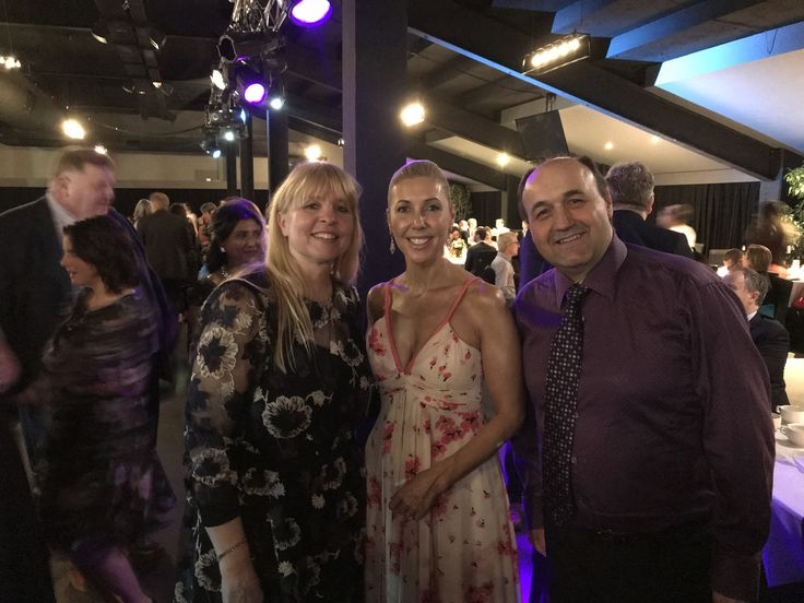 Catriona Rowntree with Lisa and Robert Panjkov at the Casey Cardinia Business Awards