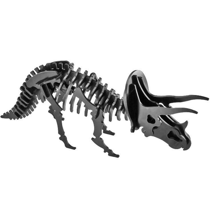 Puzzle / Peças para Montagem - Brontossauro Médio - Feito de Psai / 30x10 cm | Carro de Mola - Decorar faz bem.