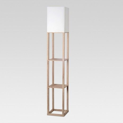 This Shelf Floor Lamp From Threshold Delivers Big On Modern Style Without Compromising On Functio With Images Floor Lamp With Shelves White Floor Lamp Floor Lamp Lighting