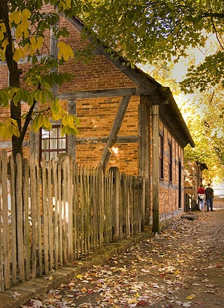 Fall in Old Salem, Winston-Salem North Carolina