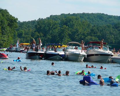 Party Cove, Lake of the Ozarks, MO. Best place to go in the summer!