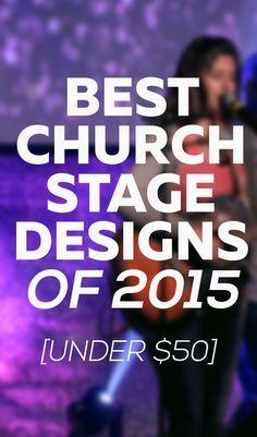 My Top 5 Church Stage Designs of 2015 (All under $50) | Josh Blankenship Visit