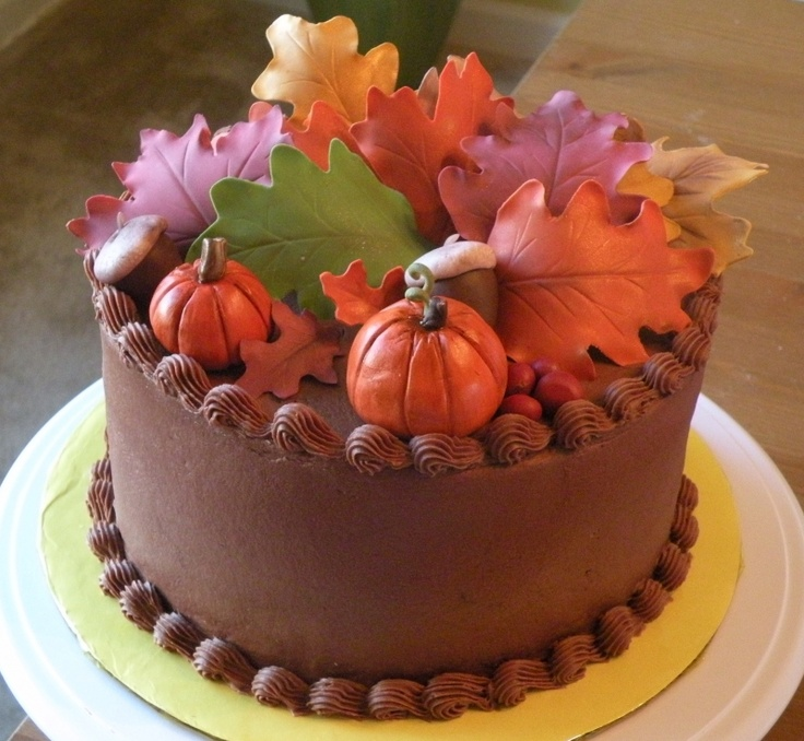 Simple Cake Ideas For Thanksgiving : 186 best images about Holidays cakes on Pinterest