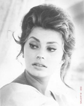 """Sophia Loren - my Mom used to send Dad cards signed """"Sophia"""".  He would send her cards signed """"Clark"""".  Sigh.  True love."""