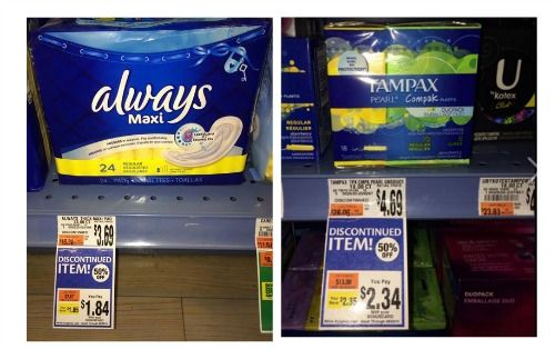 Giant Clearance Deals – Always Maxi Pads $.84 & More
