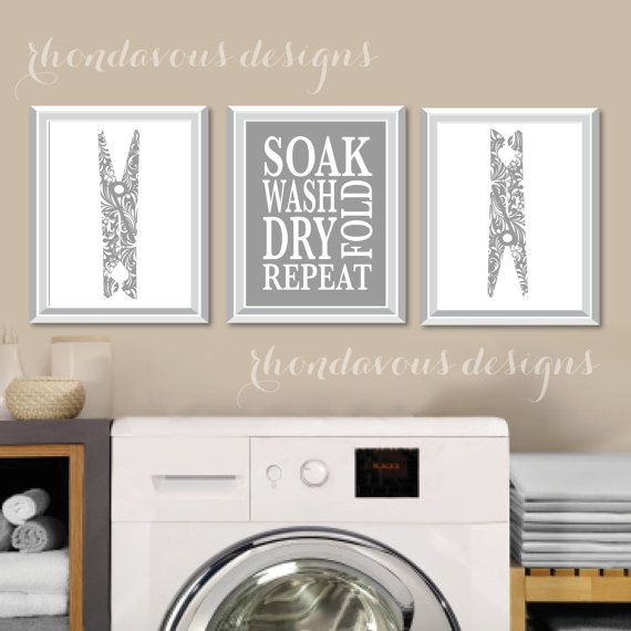 Laundry Room Art Print  Laundry Room Sign  by RhondavousDesigns2