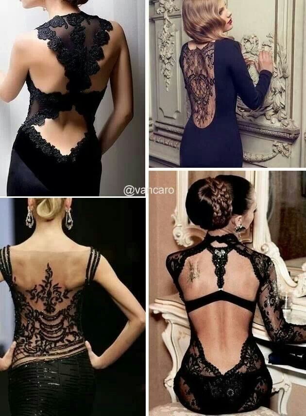 Black dress ♥♥♥ Sexy!!! Hot!!! Love the lace and detail!