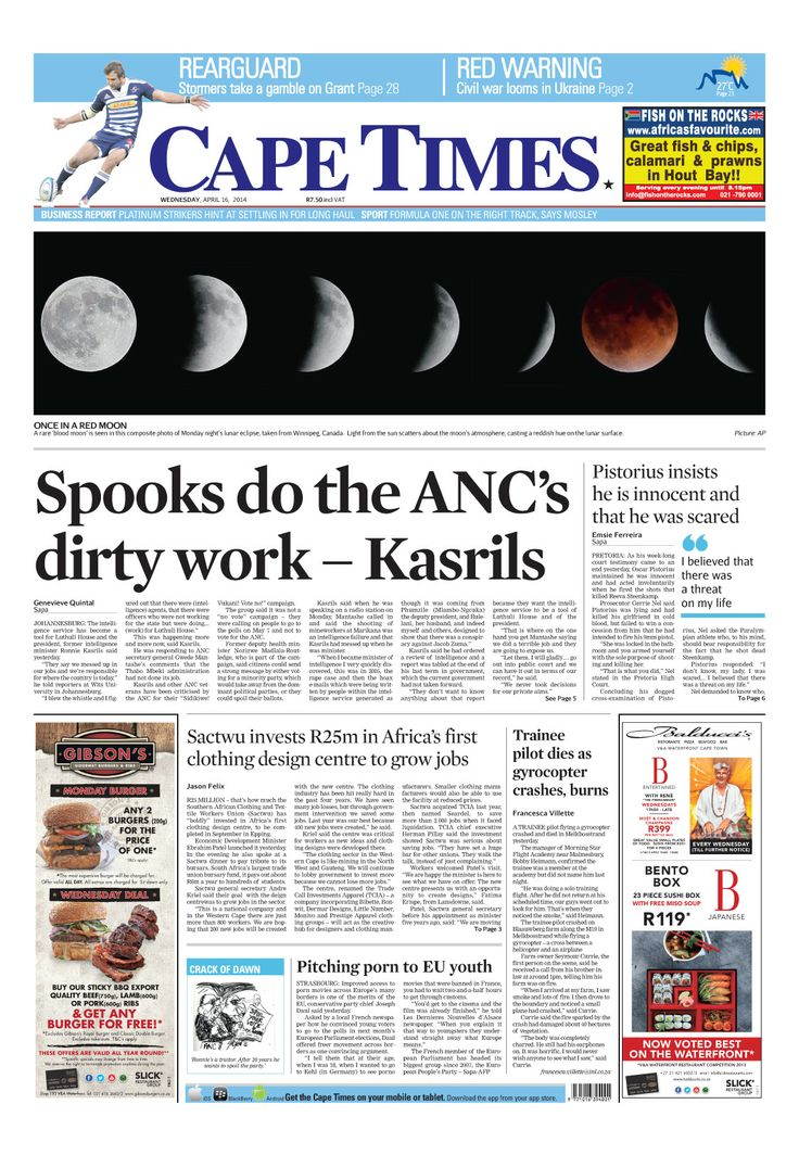 News making headlines: Spooks do the ANC's dirty work - Karils