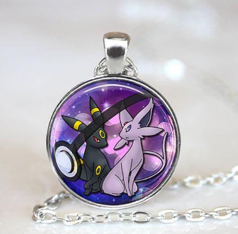 OMG I really love this!!  Glass Pokemon Pokeball Pendant