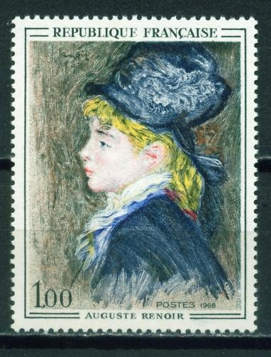 France Renoir Famous Painting stamp 1968 MNH