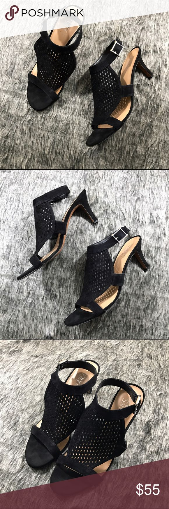 FRANKO SARTO Leather Heels Excellent condition, hardly worn! Lovely caged detail. Franko Sarto Shoes Heels