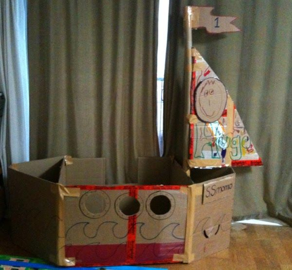 Do you ever have cardboard boxes that you don't know what to do with? How about build an awesome fort or kid's cardboard boat! A long ti...