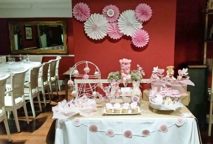 Mesa dulce de Bautizo para souvenir de invitados.