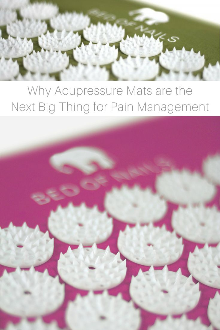 """Why Acupressure Mats are the Next Big Thing for Pain Management   NewBeauty.com   With claims of improved sleep and increased circulation throughout the body, the appeal of acupressure mats are definitely extraordinary. """"Acupressure mats are effective and really help with relieving muscle tension and discomfort,"""" says Dr. Weiss.   Bed of Nails"""