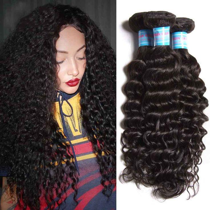 300gr Peruvian Deep Wave Virgin Hair Weave Bundle Curly Human Hair Extensions #Dsoar #WaveBundle