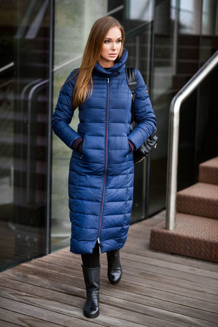 This long, straight silhouette down coat with a wide collar is more than a great choice for this winter. http://audimas.com #audimas #downcoat #winterwear