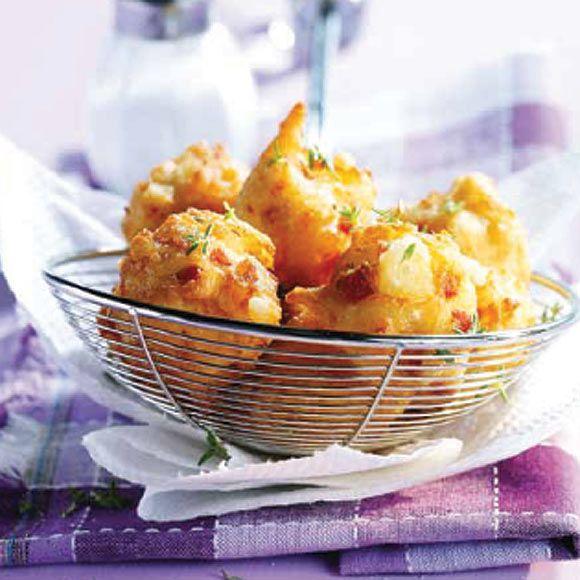 Buñuelos de jamón ibérico con romero #cuisine #recipes