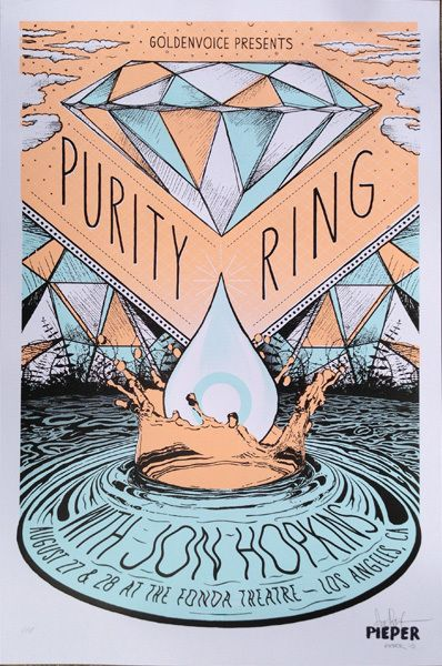 GigPosters.com - Purity Ring - Jon Hopkins tagged: experimental, chillwave, indie pop