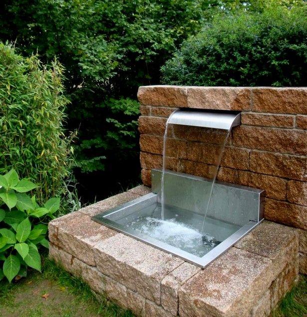 Brunnen Fur Vorgarten Wasserfall Garten Vorgarten Vorgarten Ideen