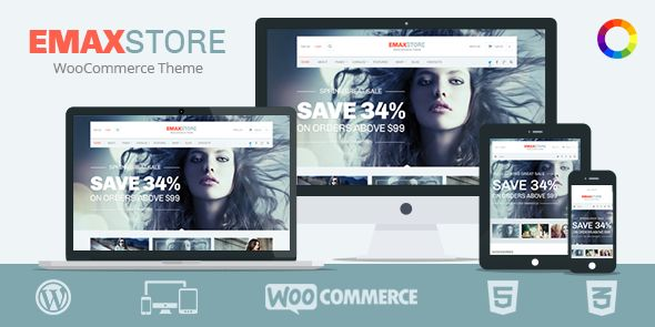 eMaxStore Responsive Multipurpose eCommerce WordPress Theme