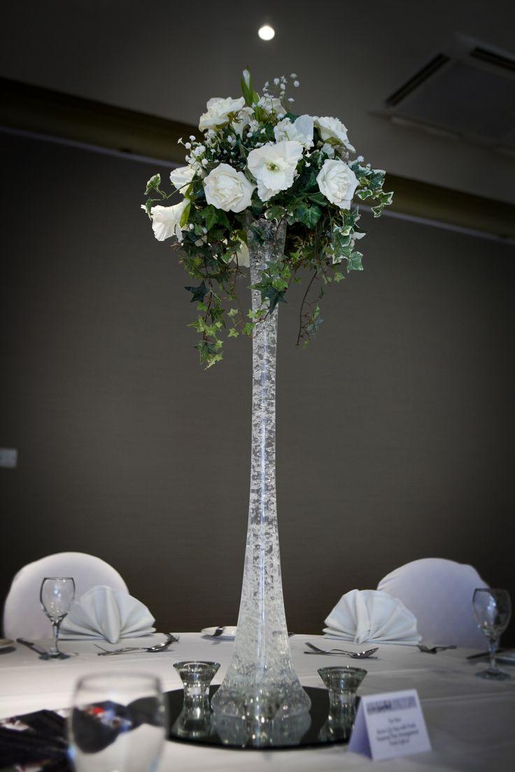 Bubble lily vase with a floral arrangement