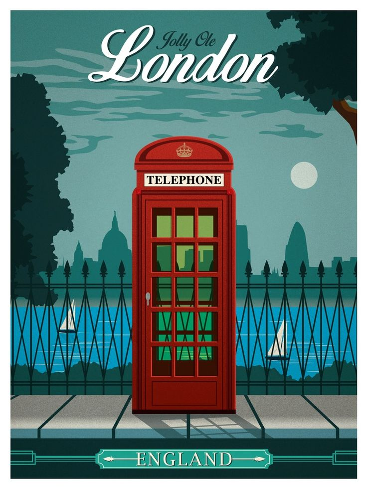 Image of Vintage London Travel Poster                                                                                                                                                      More