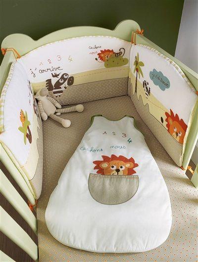 Bonito protector de cuna encantador, para proteger al bebé y rodearlo de una minijungla muy mullida.   #Protector #cuna #bebé Precio desde 26,59€